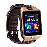 Relojes Inteligentes Best Deals - Bluetooth 3.0 reloj inteligente con cámara, TF / tarjeta SIM ranura con podómetro función anti-perdida para Samsung, HTC, LG, Sony, Huawei teléfonos inteligentes Android y iOS (función parcial) (oro)