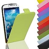 Eximmobile Flip Case Handytasche für Samsung Galaxy Ace 2 in Grün | Kunstledertasche Samsung Galaxy Ace 2 Handyhülle | Schutzhülle aus Kunstleder | Cover Tasche | Etui Hülle in Kunstleder