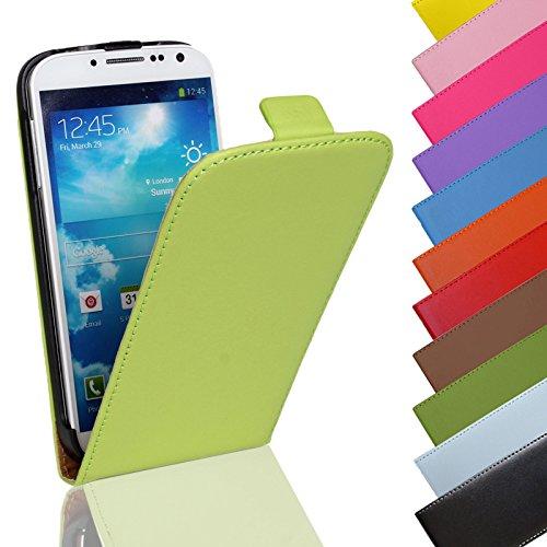 Eximmobile Flip Case Handytasche für Huawei Ascend G525 in Grün | Kunstledertasche Huawei Ascend G525 Handyhülle | Schutzhülle aus Kunstleder | Cover Tasche | Etui Hülle in Kunstleder