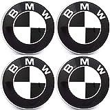 Embleme SCHWARZ-WEISS rund 4 x 70 mm aus Silicon (Art.eBMW70), SCHNELL VERSAND AUS DEUTSCHLAND