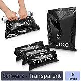 FILIKO Reise Vakuumbeutel 6er Set - Der Vakuum Beutel für Kleidung - Kein Staubsauger notwendig einfach per Hand Rollen