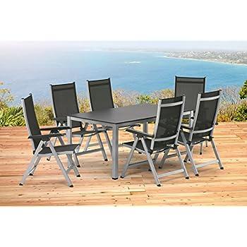 Amazon.de: Kettler BASEL Gartenmöbel 1 Tisch 160 cm und 6 ...