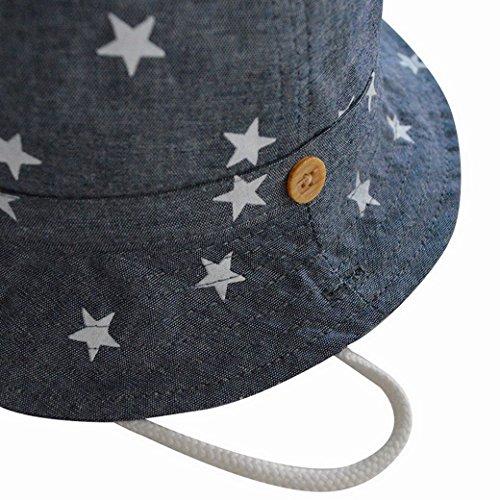 Happy cherry Verano Sombrero Infantil con ala Tipo de Pescador Algod/ón Gorra Protecci/ón de Sol Estampado de Estrellas Bucket Hat para Beb/és Ni/ños Ni/ñas
