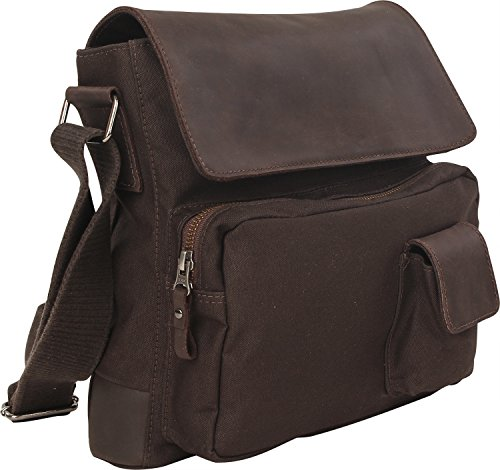 Harold´s WAXCAN Shoulderbag w. Pockets Medium, Borsa a spalla donna, (Dark Brown), M 1 nero