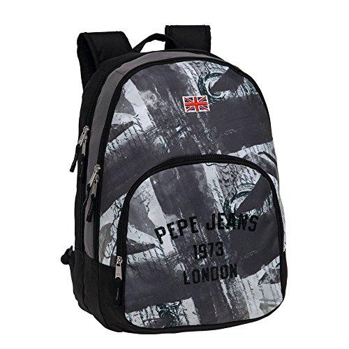 Pepe Jeans 6082451 Mochila Adaptable a Carro, Diseño Grafismo, 30 litros
