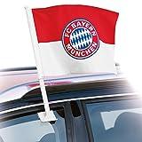 FC Bayern München Autofahne Gratis Sticker München Forever, Fahne, Flagge, Auto-Fahne, Flagg