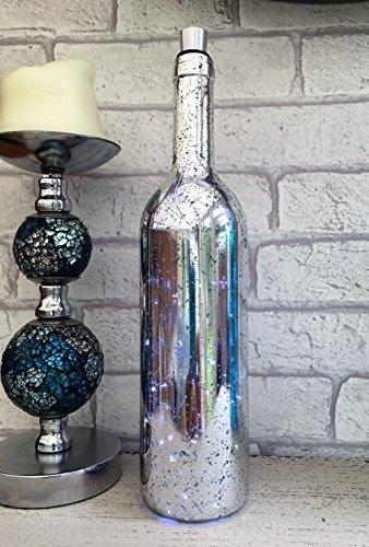 Homes On Trend Weinlesemerker-Glasflasche LED weiße feenhafte Lichter-Weihnachtstafel-Dekoration