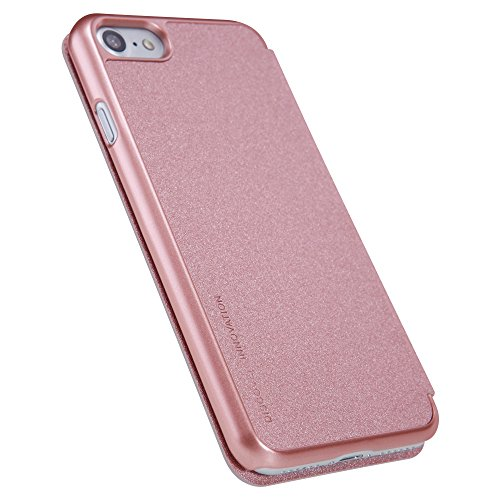 KaiTelin Apple iPhone 7 Plus Hülle - Sparkle Clamshell Schutzhülle Leder-Etui für Apple iPhone 7 Plus - Himmel blau Gold