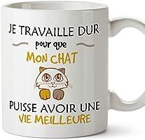 Mugffins Tasses pour Les Amoureux des Animaux domestiques - Chats et Chiens - Cadeau Original