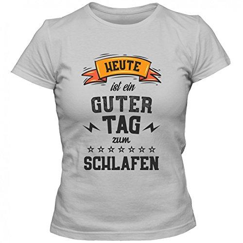 Schlafen Premium T-Shirt | HobbyShirt | Sport | Mittagschlaf | Frauen | Shirt Graumeliert (Grey Melange L191)