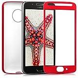 kwmobile Funda para Motorola Moto G5 - Carcasa [Doble] de [TPU] - Case de [ambas Caras] para móvil en [Rojo Oscuro Metalizado]