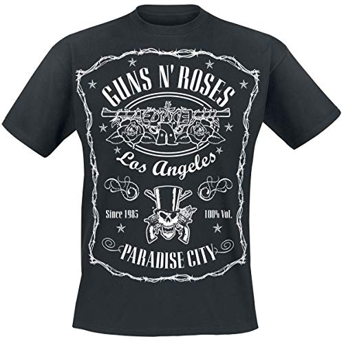 Guns N Roses Paradise City Label T-Shirt schwarz 5XL