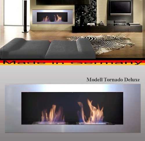 L'éthanol et cheminée de gel Cheminée Modèle Tornado Deluxe (Argent)