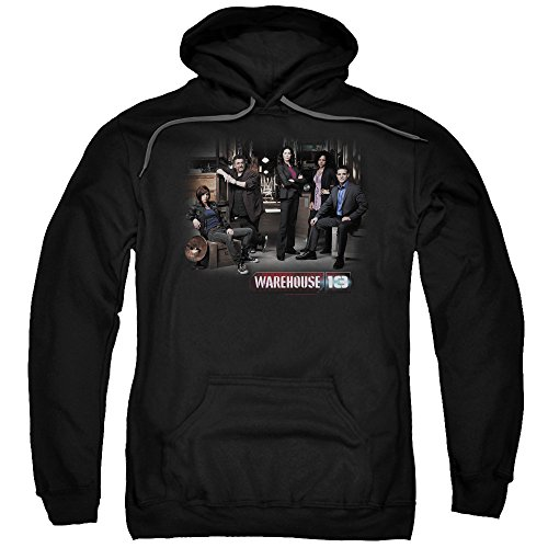 2Bhip Warehouse 13 Science Fiction Fantasy TV Warehouse Cast Adult Pull-Over Hoodie