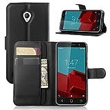 Tasche für Vodafone Smart Prime 6 Hülle, Ycloud PU Ledertasche Flip Cover Wallet Case Handyhülle mit Stand Function Credit Ca