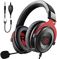 EKSA E900 Wired Stereo Gaming Headset-Over Ear Headphones with Noise Canceling Mic, Detachable Headset Compati