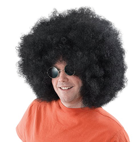 2Mega Afro Perücke, schwarz, one size (Top Halloween Kostüme Für Frauen 2017)