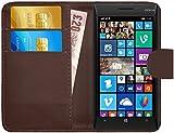 G-Shield Hülle für Nokia Lumia 930 Klapphülle mit Kartenfach - Braun