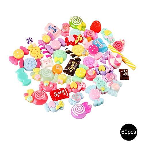 DIY Perlen, DIY Collage Handwerk Schleim Charms Mixed Harz Candy Perlen Schleim Süßigkeiten Perlen machen Lieferungen
