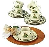 Seltmann Weiden 001.716497 Kaffeeservice - Marieluise Weihnachten - Porzellan - 18-tlg.