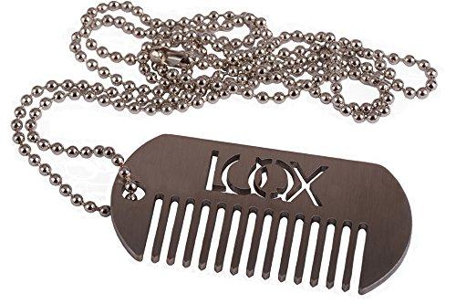 luqx Barbe peigne métal – Barbe peigne en métal pour l'entretien de la barbe Dog de Jour Like – Fabriqué en Allemagne