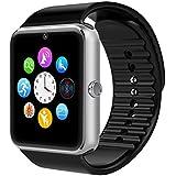 VOSMEP Reloj Inteligente Smart Watch soporte Facebook Twitter Teléfono Inteligente Pulsera 1.54 Pantalla Táctil Cámara para Android Samsung HTC LG Huawei Xiaomi Reloj Deportivos SIM/TF Plata SM10