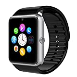 Yarrashop® Bluetooth Smart Watch Wristwatch with Camera SIM Card Slot Smart Phone Watch for Andriod Samsung HTC Sony and Other Android Smartphones Bracelet Smartwatch(Silver and Black)
