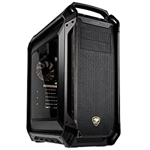 Cougar Panzer MAX Full-Tower Black computer case - Computer Cases (Full-Tower, PC, ATX,CEB,EATX,Micro-ATX,Mini-ITX, Black, Gaming, 17 cm)
