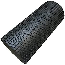 rodillo de yoga pilates en Sannysis rodillo de gimnasia 30 x 14.5cm (negro)