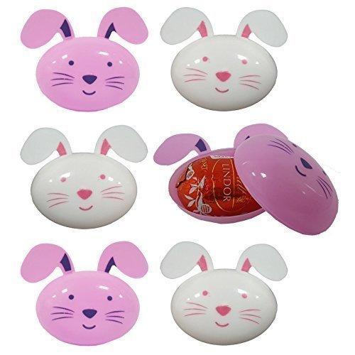 12 x Hase Kaninchen Geformt Leere Plastik Eier Ostern Jagd Geschenk Dekoration Zubehör