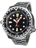 XL 52mm Diver Orologio con cinturino in acciaio inox e vetro zaffiro t0300m