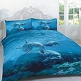 Dream Zone Bettwäsche-Set mit Animal-Print-Motiv, Delfin, Einzelbett
