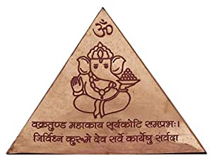 Vastu Pyramid with Syllable Mantra, Shri Yantra, Vaastu Dosh Nivaaran Shri Sudarshan Yantra and Kana