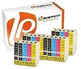 Bubprint 30x Druckerpatronen kompatibel für Epson T1291 T 1291 T1292 T 1292 T1293 T 1293 T1294 T 1294 Stylus SX435w SX 435 w schwarz cyan gelb magenta