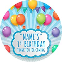 Bunting Party Balloons Sticker Labels (24 Stickers, 4.5cm Each) Personalised Seals Ideal for Party Bags, Sweet Cones, Favours, Jars, Presentations Gift Boxes, Bottles, Crafts