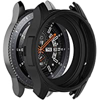 Cooljun Compatible avec Samsung Gear S3 Frontier/Galaxy Watch 46mm,Housse complète en Silicone Souple TPU Protection