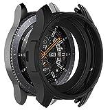 Gaddrt Uhr Schutzhülle, Weiche TPU-Schutzhülle aus Silikon für Gear S3 Frontier/Galaxy-Uhr 46 (Schwarz)