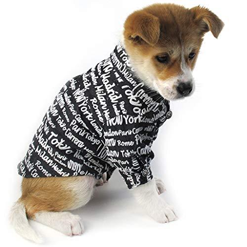 Hawkimin Mode Haustier Kostüme Frühling und Sommer Brief drucken Breathable Simple New Cowboy Shirt
