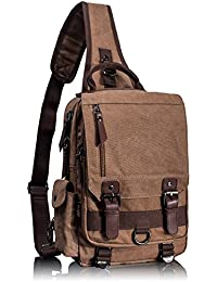 Leaper bags wallets and luggage buy leaper bags wallets and leaper canvas one strap sling cross body messenger bag shoulder backpack travel rucksack medium fandeluxe Image collections