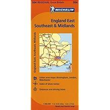 Michelin Map England East, Southeast, & Midlands.