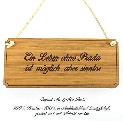 Mr. & Mrs. Panda Türschild Stadt Prada Classic Schild - Gravur,Graviert Türschild,Tür Schild,Schild, Fan, Fanartikel, Souvenir, Andenken, Fanclub, Stadt, Mitbringsel