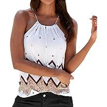 Mujer Blusa verano,Sonnena ❤ ❤ sexy off hombro blusa con tirantes Patrón