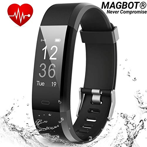 MAGBOT ID-119 Smart Fitness Band for Men Women Sports/Gym/Health Lovers with Heart Rate Monitor Activity Tracker, Steps/Calorie B.P Counter Digital Watches OLED Band for Kids Boys Girls