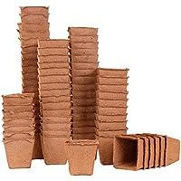 50macetas de cuadrado (8x 8cm, biolog. biodegradable. 92011