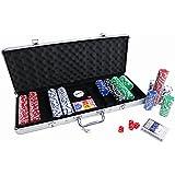 Set de Póker XXL Set con 500 fichas 5 dados Maleta de aluminio