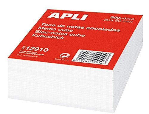APLI 12910 - Taco de notas encoladas (80 x 80) 500 hojas