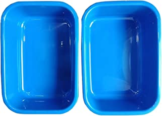 Bauzooka Blue High Quality Plastic Bucket Basin Tub (Medium Size) Used for Multipurpose- Storing Water, Utensils in Kitchen, Foot Pedicures and Bathing (Pack of 2)