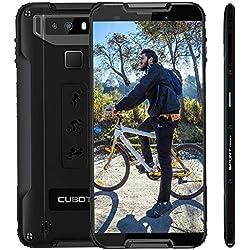 CUBOT Quest Smartphone 4G Android 9.0, 5,5 '', Télephone Portable debloqué incassable 4Go+64Go, Double SIM, NFC, 4000mAh IP68 Imperméable Antichoc, Antipoussière, Noir
