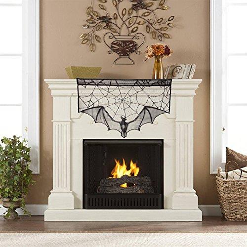 calistous Halloween Spider Web Fledermaus Spitze Tür Fenster Tischdecke Bezüge Cobweb Home Decor, 36*22inch, Fireplace (Kostüm Spider Diy)