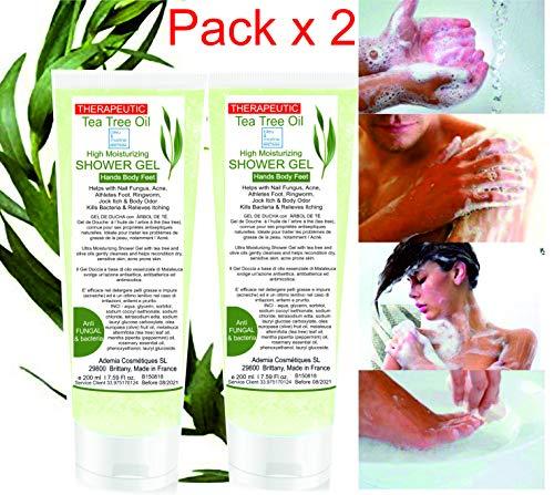 Gel de Douche Purifiant (Pack 2x200 ml) Ultra Hydratant à l'Arbre à Thé Peau à problèmes
